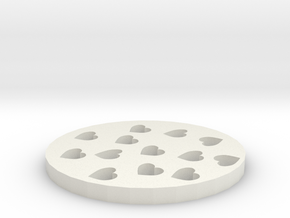 Full of love coasters in White Natural Versatile Plastic