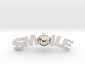 Smile necklace in Platinum
