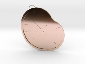 time necklace in 14k Rose Gold Plated Brass