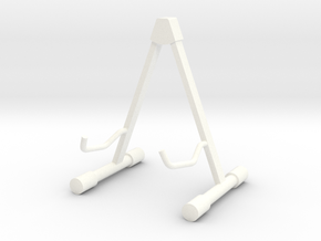 Guitar Stand_for ES 175, Scale 1:6 in White Processed Versatile Plastic