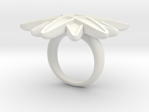Starburst Statement Ring in White Natural Versatile Plastic: 6 / 51.5