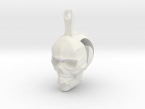 Skull Earrings Halloween in White Natural Versatile Plastic