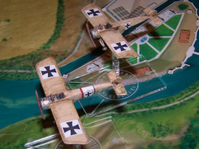 Fokker E.III in White Strong & Flexible: 1:144