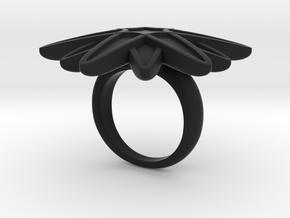 Starburst Statement Ring in Black Premium Strong & Flexible: 6 / 51.5