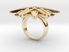 Starburst Statement Ring in 14k Gold Plated Brass: 6 / 51.5