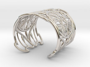 "Bracelet ""Jolie"" in Rhodium Plated Brass: Small"