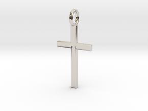 Crucifix - Pendant in Platinum: Small