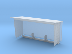 Wartehaus aus Betonfertigteilen, DDR, 1:87 in Smooth Fine Detail Plastic