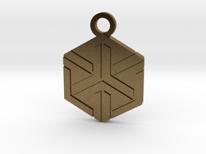 House of Ishida Charm in Natural Bronze