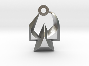 House of Martok Charm in Natural Silver: Small