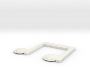 note  in White Natural Versatile Plastic: Medium