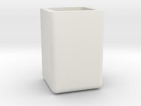 pen holder in White Natural Versatile Plastic: Medium