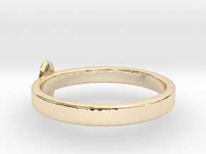 rings with goose egg in 14K Yellow Gold