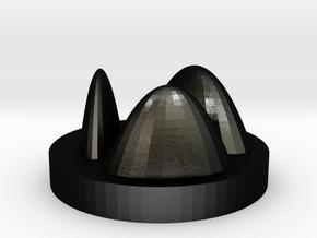 Peaks and valleys in Matte Black Steel