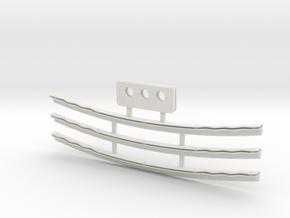 Flap Gurney Kit (3 Flaps LMR & Yokomo Wings) in White Natural Versatile Plastic
