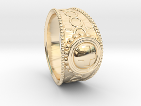 Antic ring 2 in 14k Gold Plated Brass