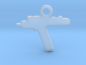 Phaser Silhouette Charm in Smooth Fine Detail Plastic