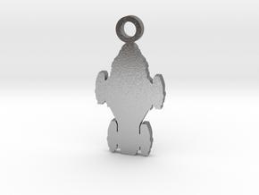 Raza Silhouette Charm in Natural Silver