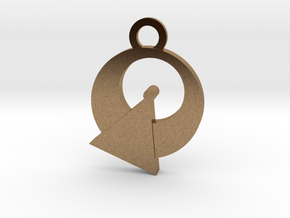 Vulcan Reversible Charm in Natural Brass