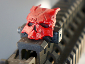Top_Rail_Demon_Skull in White Processed Versatile Plastic