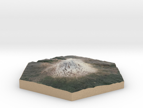 Model of Mt. Adams, WA (10cm, Full-Color) in Full Color Sandstone
