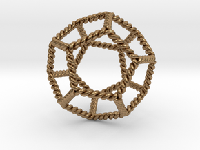 Twisted Dodecahedron LH in Natural Brass