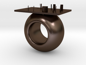 Circle cabinet in Polished Bronze Steel