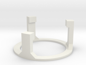 Graflex2.0 Part 4/4 - Speakerholder Top in White Natural Versatile Plastic