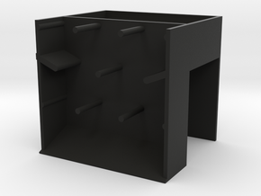Dice Tower in Black Strong & Flexible