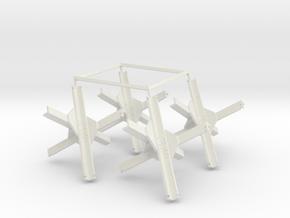 Czech Hedgehog (1:18 scale) in White Natural Versatile Plastic: 1:18