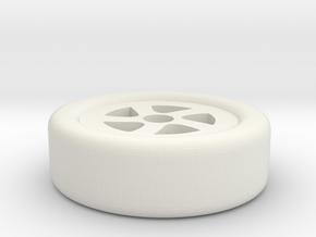 Wheel Night Light in White Natural Versatile Plastic