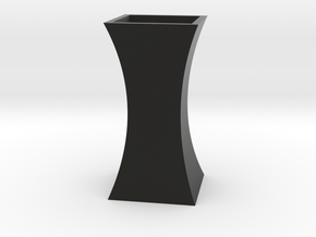 Curved Flower Vase - Black in Black Natural Versatile Plastic