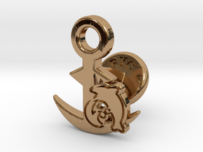Cufflinks - Let's Hug! in Polished Brass