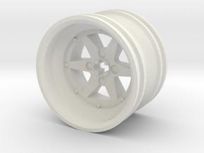 Wheel Design XIII in White Natural Versatile Plastic