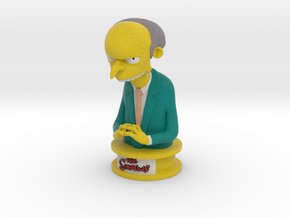The Simpsons Mr Burns in Full Color Sandstone