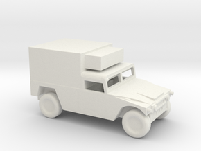 1/160 Scale Humvee Box in White Natural Versatile Plastic