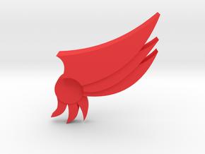 badge in Red Processed Versatile Plastic: Extra Small