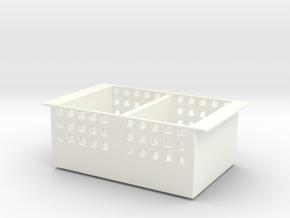 Storage basket in White Processed Versatile Plastic