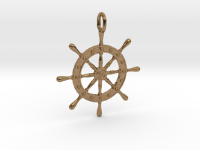 Boat Steering Wheel in Natural Brass