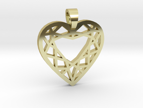 Heart cut [pendant] in 18k Gold Plated Brass