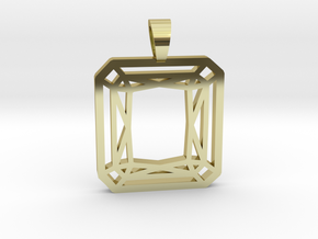 Radiant cut [pendant] in 18k Gold Plated Brass