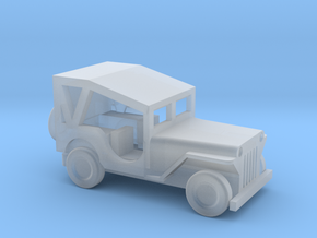 1/160 Scale MB Jeep Covered in Smooth Fine Detail Plastic