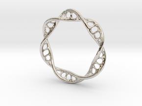DNA Ring 2 in Rhodium Plated Brass