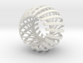 Relative Prime Sphere in White Strong & Flexible: Extra Small