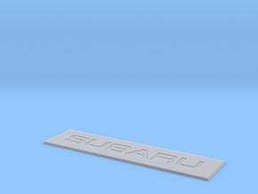 Subaru Floor Mat Badge for WeatherTech Liners in Smoothest Fine Detail Plastic