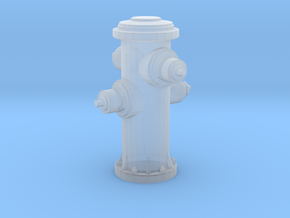 Fire Hydrant in Smooth Fine Detail Plastic