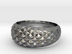 Geometric Cristal Ring 2 in Polished Silver