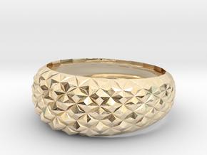 Geometric Cristal Ring 2 in 14K Yellow Gold