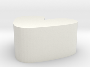 A LITTLE SWEET(love mold) in White Natural Versatile Plastic