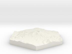 Model of Mt. St. Helens, WA (10cm, Full-Color) in White Natural Versatile Plastic